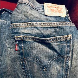 Men's jeans size 18 Husky, loose straight Levs
